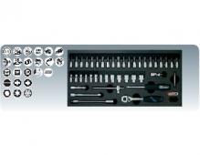 """[8181301]  KS-Tools (Германия) Набор головок 1/4"""" с аксессуарами"""