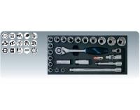 """[8181303]  KS-Tools (Германия) Набор головок 1/2"""" с аксессуарами"""