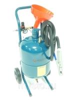Передвижной пескоструйный аппарат напорного типа (бак 19л, 170-566л/мин, 4-8,5атм) Forsage SB5