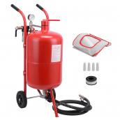 Передвижной пескоструйный аппарат напорного типа (бак 38л, 170-710л/мин, 4-8,5атм) пневмо Big Red  SB10