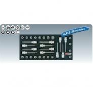 [8181305]  KS-Tools (Германия) Набор бит-насадок на ложементе