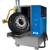 Мойка для колес грузовых автомобилей, с пневматической установкой загрузки колеса [WULKAN500]  Kart (Польша)