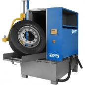 Мойка для колес грузовых автомобилей, с пневматической установкой загрузки колеса и подогревом [WULKAN500H]  Kart (Польша)