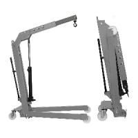 Кран - гусь, гаражный складной г/п 1т. двухтактный Werther-OMA W108(OMA590)