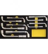 [SP701014]  Spanesi (Италия) Набор ключей трубчатых с отверстием, 10 шт., на ложементе