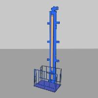 [П3-11]  ДАРЗ (Дмитров) Подъемник одностоечный, электромеханический для грузов г/п 400 кг.