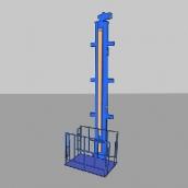 [П4-12]  ДАРЗ (Дмитров) Подъемник одностоечный, электромеханический для грузов г/п 400 кг.