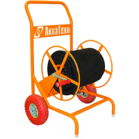 Барабан выносной на колесах для рукава 100 м. РВД DN12, вход1/2  - выход 22Х1,5