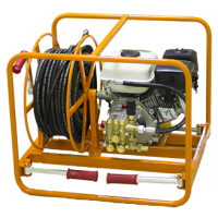 Аппарат высокого давления (помпа) 12 л/м 160 бар с бензиновым двигателем КПМ-М4-170-12