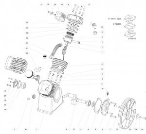 Запчасти для LB30 компрессорного блока lb-30 remeza ремеза